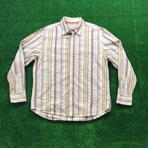 Robert Graham Button Front Striped Flip Cuff Shirt